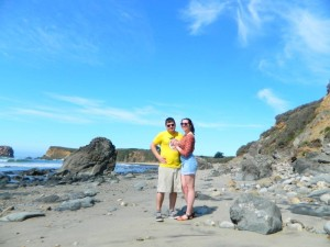 We're engaged! Big Sur, March 2015